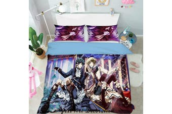 3D Black Butler Quilt Cover Set Bedding Set Pillowcases 79-King