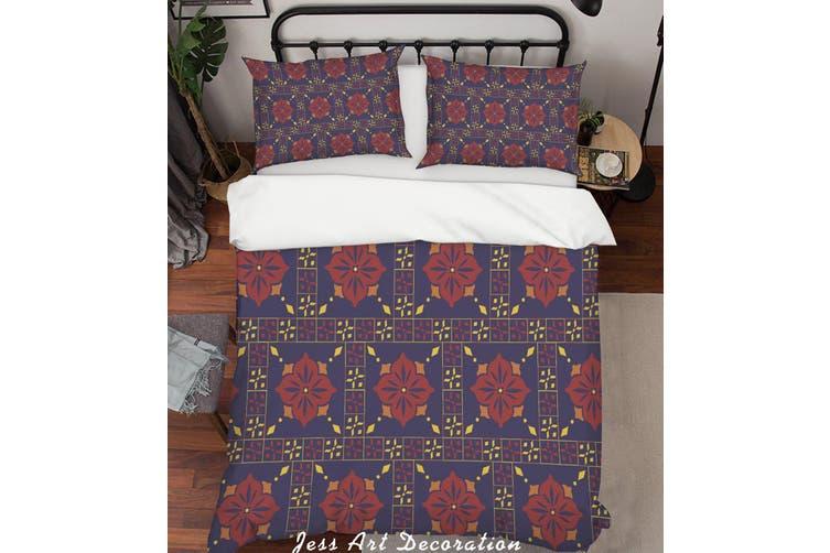 3D Color Plaid Decorative Pattern Quilt Cover Set Bedding Set Pillowcases 150-Double