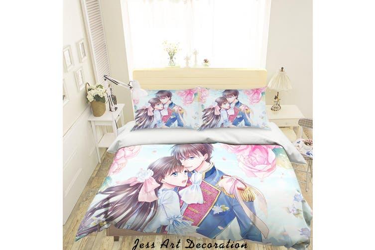 3D Anime Girl Quilt Cover Set Bedding Set Pillowcases 69-King