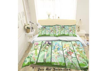 3D Sword Art Online Quilt Cover Set Bedding Set Pillowcases 62-Single