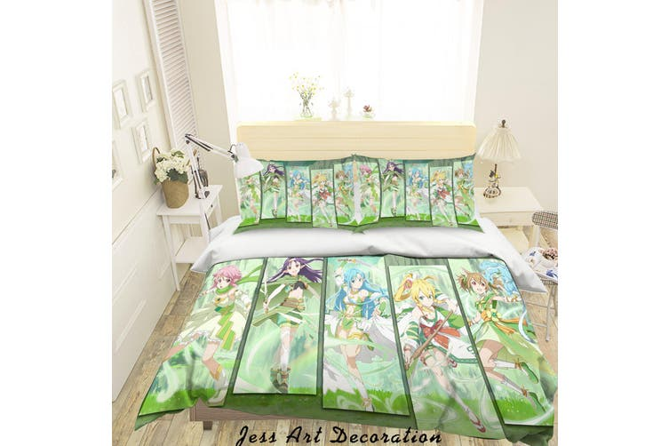 3D Sword Art Online Quilt Cover Set Bedding Set Pillowcases 62-Double