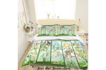 3D Sword Art Online Quilt Cover Set Bedding Set Pillowcases 62-King