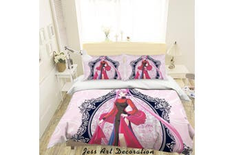 3D Sailor Moon Quilt Cover Set Bedding Set Pillowcases 60-Queen