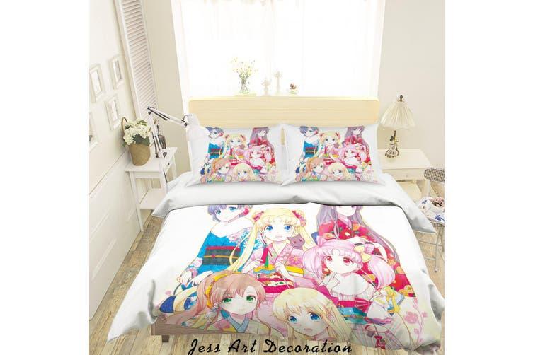 3D Sailor Moon Quilt Cover Set Bedding Set Pillowcases 58-Single