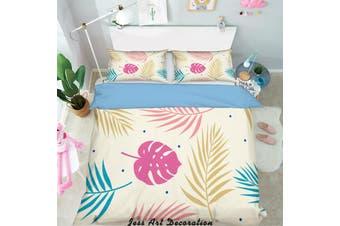 3D Color Tropical Plant Leaves Quilt Cover Set Bedding Set Pillowcases 132-Double