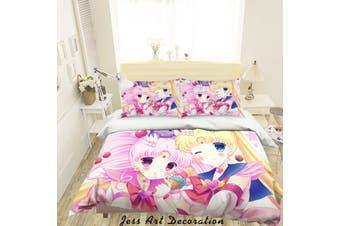 3D Sailor Moon Quilt Cover Set Bedding Set Pillowcases 54-King