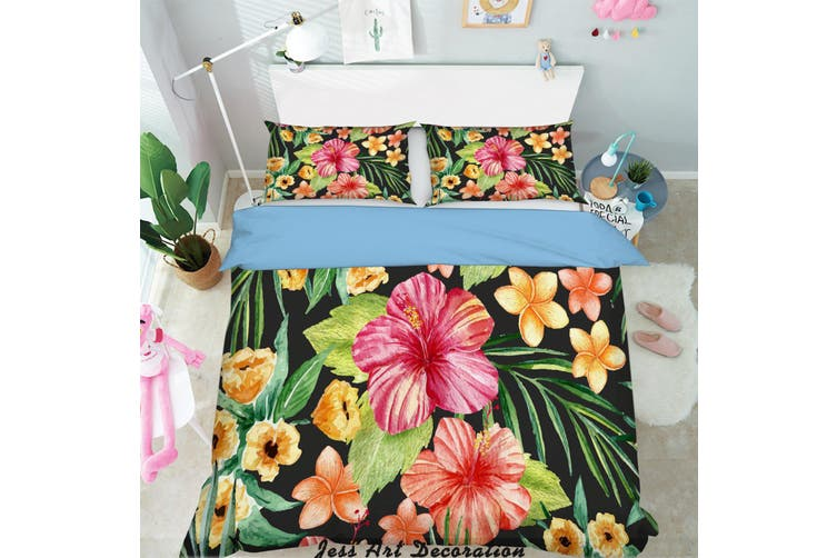 3D Color Flowers Quilt Cover Set Bedding Set Pillowcases 130-Double
