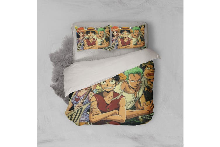 3D Anime Pirate  Quilt Cover Set Bedding Set Pillowcases 31-Queen