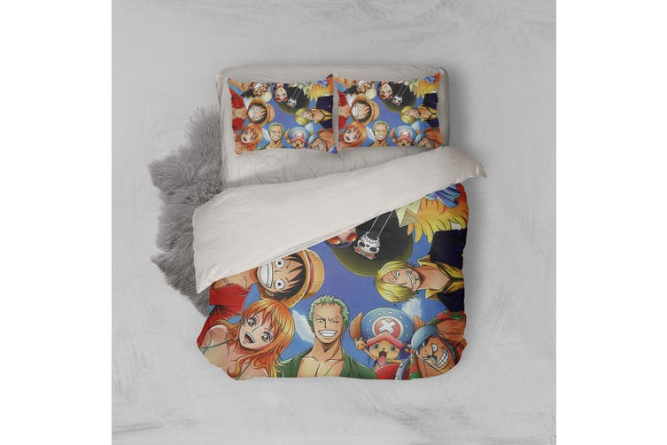 3D Anime Pirate  Quilt Cover Set Bedding Set Pillowcases 30-Double