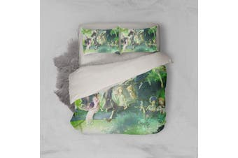 3D Anime Return Name Quilt Cover Set Bedding Set Pillowcases 25-Queen