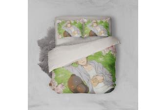 3D Anime Return Name Quilt Cover Set Bedding Set Pillowcases 21-King