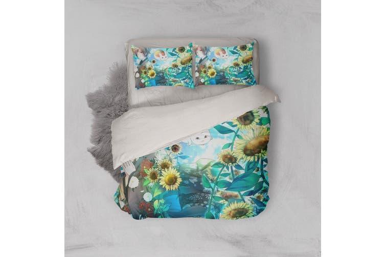 3D Anime Return Name Quilt Cover Set Bedding Set Pillowcases 19-Double