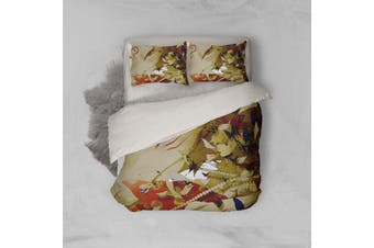 3D Anime Return Name Quilt Cover Set Bedding Set Pillowcases 17-Double