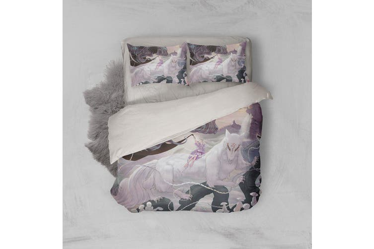 3D Anime Return Name Quilt Cover Set Bedding Set Pillowcases 16-Single
