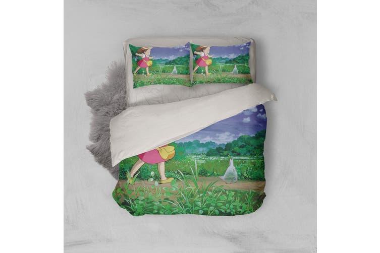 3D Anime Neighbor  Friend Quilt Cover Set Bedding Set Pillowcases 14-Single