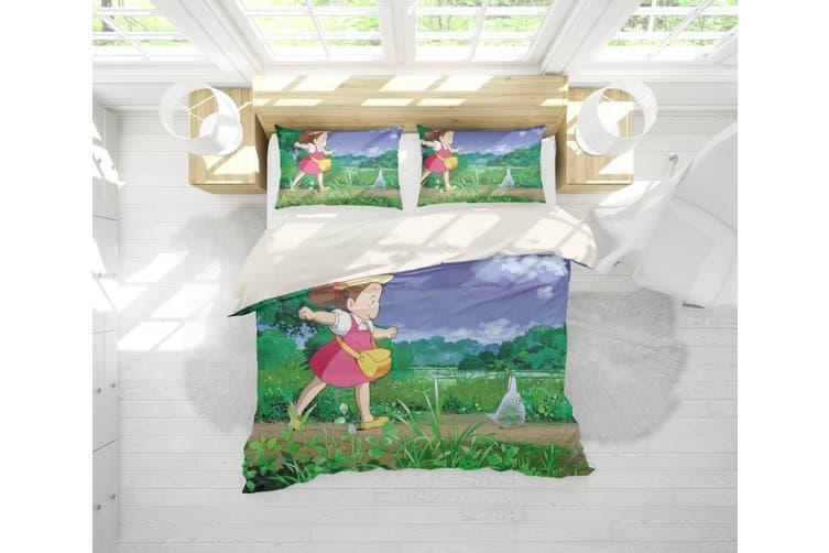 3D Anime Neighbor  Friend Quilt Cover Set Bedding Set Pillowcases 14-Queen