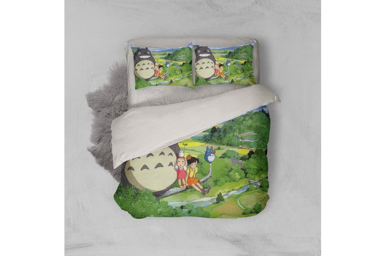 3D Anime Neighbor  Friend Quilt Cover Set Bedding Set Pillowcases 13-Queen