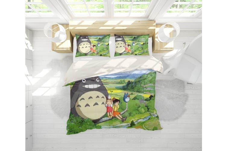 3D Anime Neighbor  Friend Quilt Cover Set Bedding Set Pillowcases 13-King