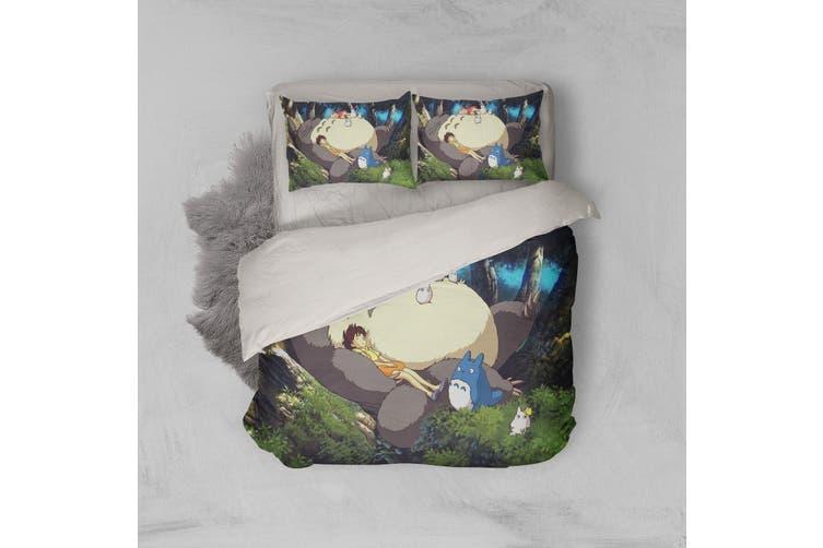 3D Anime Neighbor  Friend Quilt Cover Set Bedding Set Pillowcases 12-Queen