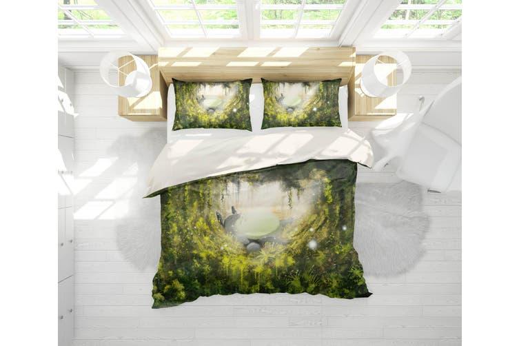 3D Anime Neighbor  Friend Quilt Cover Set Bedding Set Pillowcases 10-King