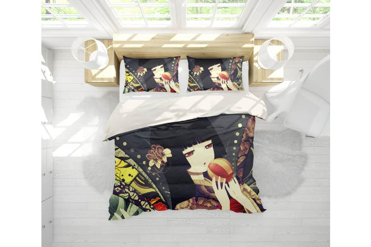 3D Anime Hell Girl Quilt Cover Set Bedding Set Pillowcases 09-Double