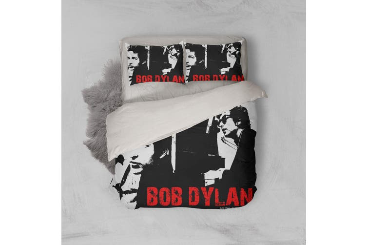 3D Band Bob Dylan Quilt Cover Set Bedding Set Pillowcases 217-Queen
