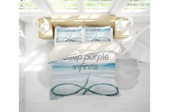 3D Band Deep Purple Quilt Cover Set Bedding Set Pillowcases 205-Single