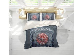 3D Band Deep Purple Quilt Cover Set Bedding Set Pillowcases 203-King