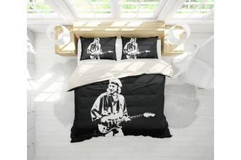 3D Band Dire Straits Quilt Cover Set Bedding Set Pillowcases 201-Queen