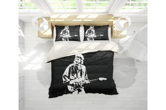 3D Band Dire Straits Quilt Cover Set Bedding Set Pillowcases 201-King