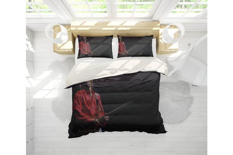3D Band Dire Straits Quilt Cover Set Bedding Set Pillowcases 199-Single