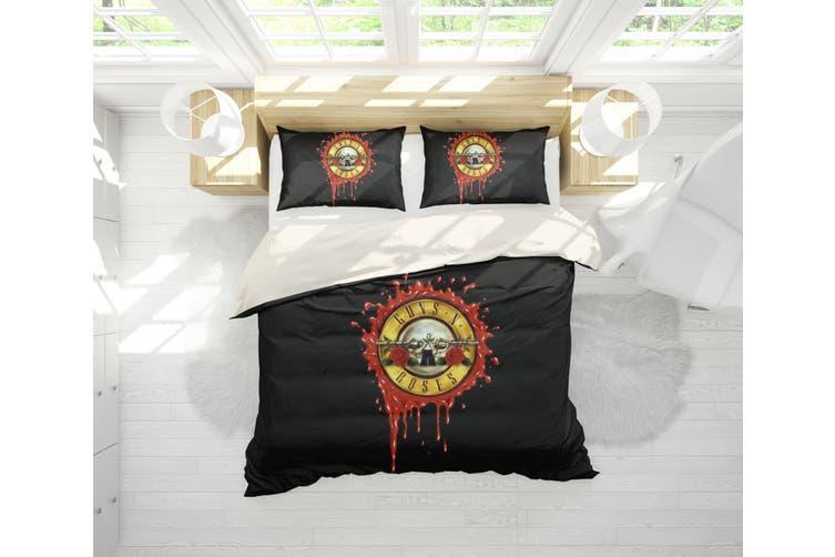 3D Band Guns N' Roses Quilt Cover Set Bedding Set Pillowcases 195-Queen
