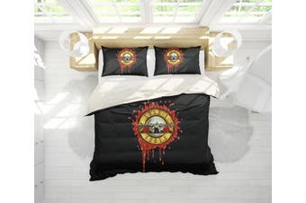 3D Band Guns N' Roses Quilt Cover Set Bedding Set Pillowcases 195-King