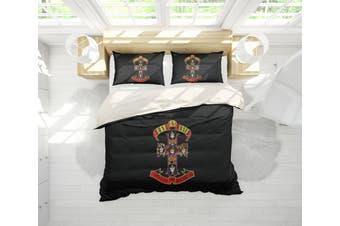 3D Band Guns N' Roses Quilt Cover Set Bedding Set Pillowcases 194-Double