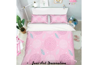 3D Pink Background Pattern Quilt Cover Set Bedding Set Pillowcases  49-Single