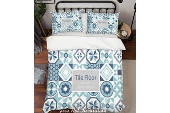 3D Color Plaid Decorative Pattern Quilt Cover Set Bedding Set Pillowcases  48-King