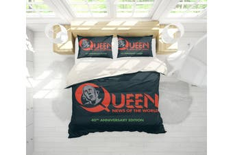 3D Band  Quilt Cover Set Bedding Set Pillowcases 86-Queen