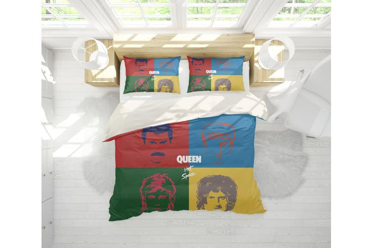 3D Band  Quilt Cover Set Bedding Set Pillowcases 83-King