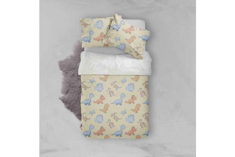 3D Color Cartoon Dinosaurs Pattern Quilt Cover Set Bedding Set Pillowcases  82-Single
