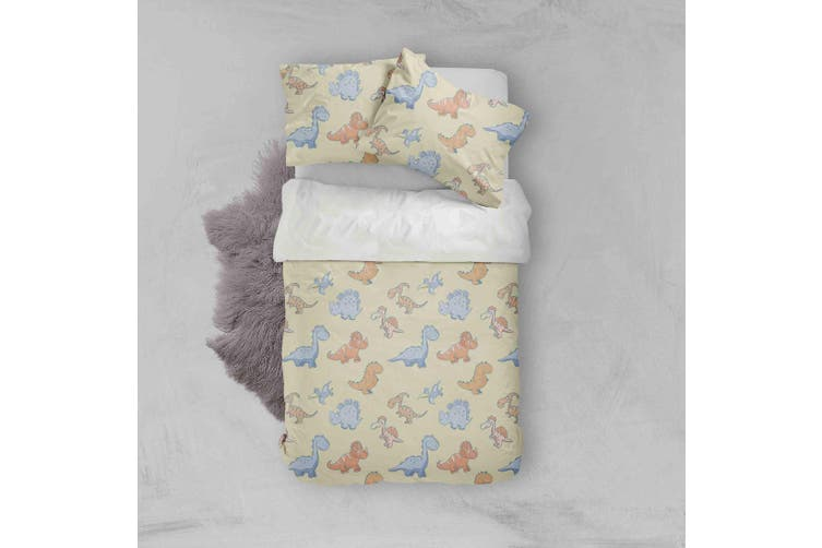 3D Color Cartoon Dinosaurs Pattern Quilt Cover Set Bedding Set Pillowcases  82-Double
