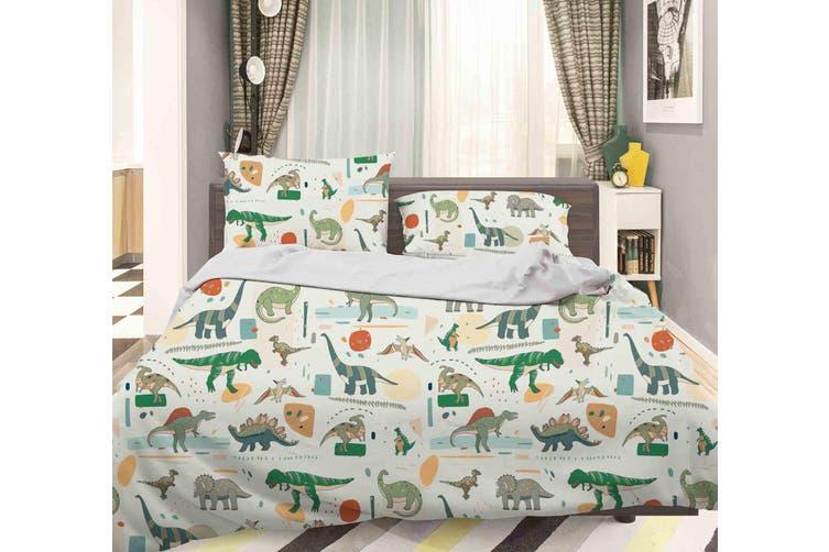 3D Color Cartoon Dinosaurs Pattern Quilt Cover Set Bedding Set Pillowcases  80-King