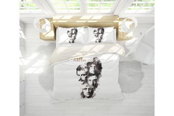 3D Band  Quilt Cover Set Bedding Set Pillowcases 81-King