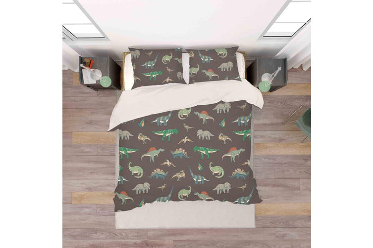 3D Color Cartoon Dinosaurs Pattern Quilt Cover Set Bedding Set Pillowcases  79-Double