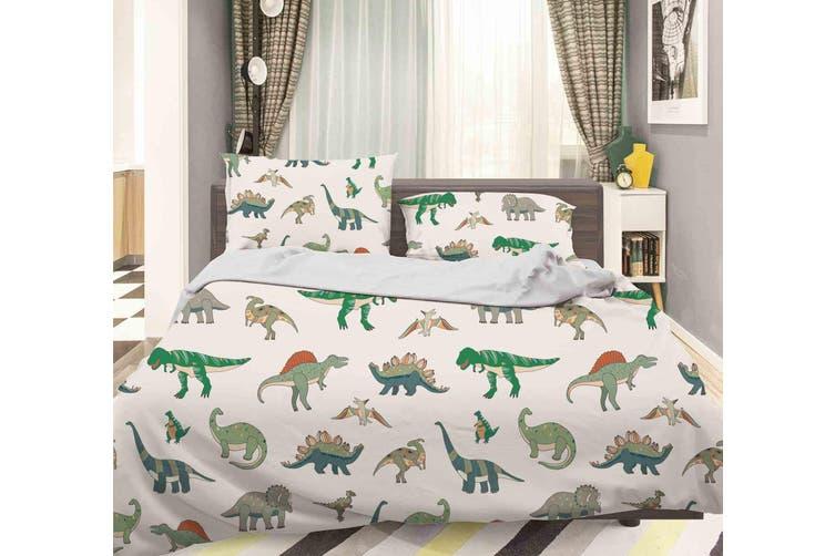 3D Color Cartoon Dinosaurs Pattern Quilt Cover Set Bedding Set Pillowcases  78-Double