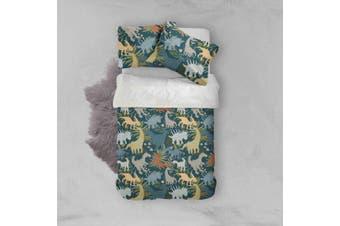3D Color Cartoon Dinosaurs Pattern Quilt Cover Set Bedding Set Pillowcases  77-Queen