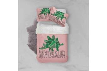 3D Cartoon Green Dinosaurs Quilt Cover Set Bedding Set Pillowcases  75-Single