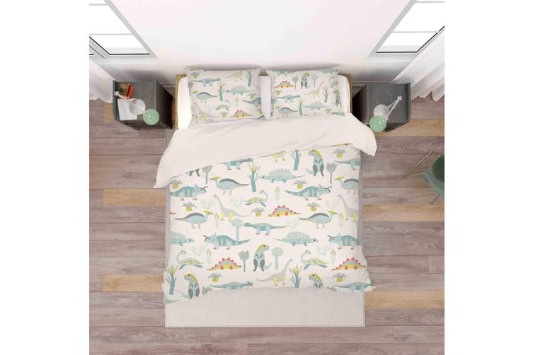 3D Cartoon Color Dinosaurs Quilt Cover Set Bedding Set Pillowcases  66-King