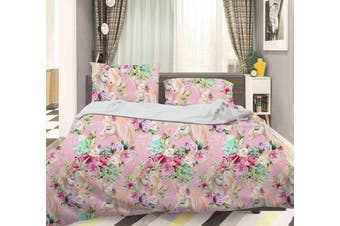 3D Color Flowers Quilt Cover Set Bedding Set Pillowcases  48-King