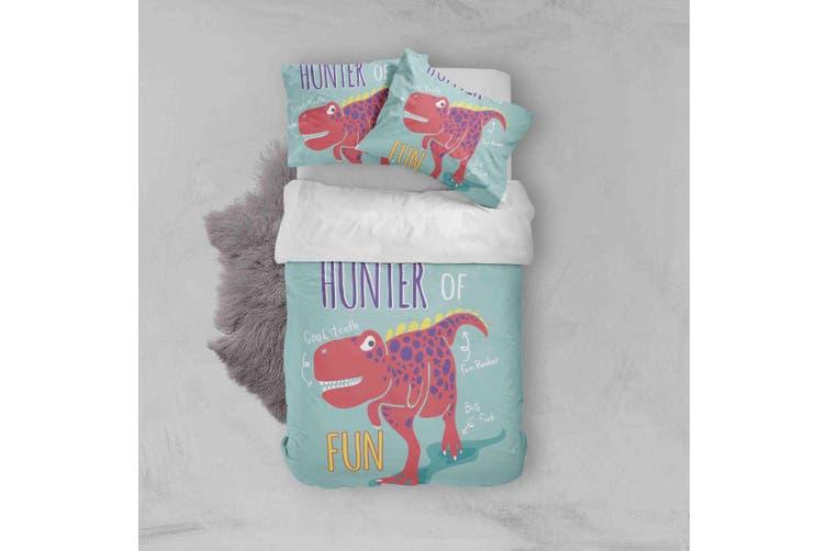 3D Red Cartoon Dinosaur Quilt Cover Set Bedding Set Pillowcases  46-Queen
