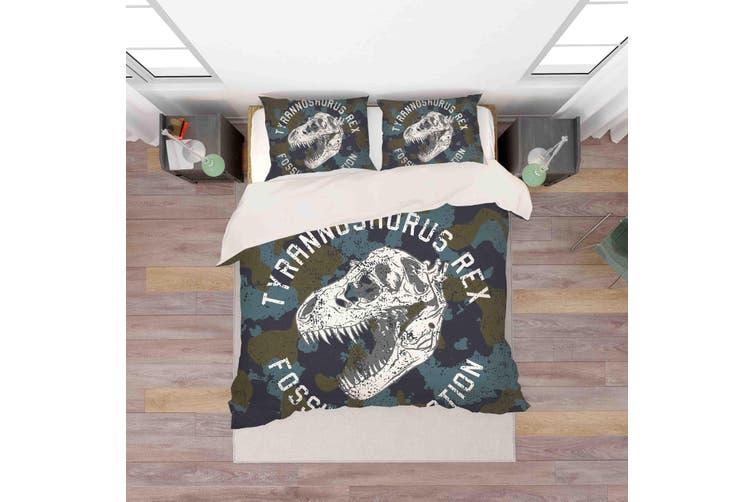 3D Dinosaur Skull Pattern Quilt Cover Set Bedding Set Pillowcases  44-King